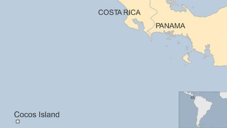 Map of Cocos Island