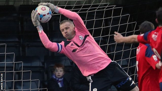AFC Telford keeper Ryan Young