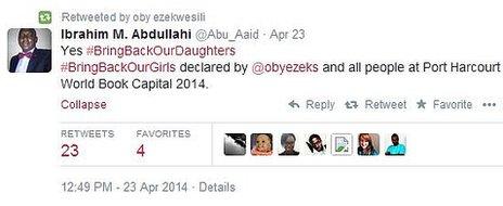 Tweet by Ibrahim Abdullahi