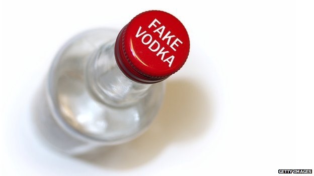 Fake vodka bottle