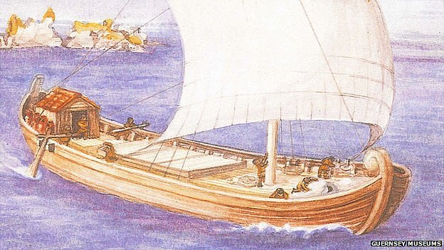 Artist's impression of Asterix trading ship