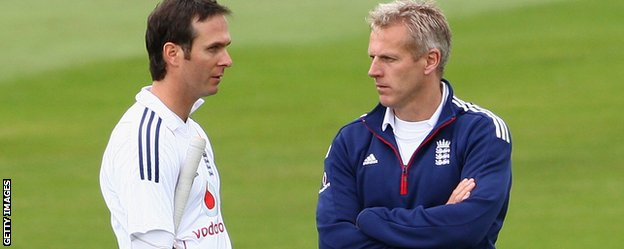 Michael Vaughan and Peter Moores