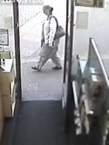CCTV still of Mrs Chaggar on day she was pushed down the stairs