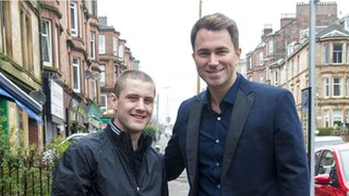 Eddie Hearn and Ricky Burns