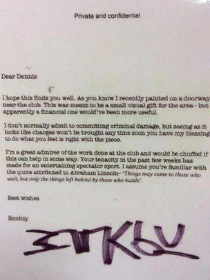 Banksy letter