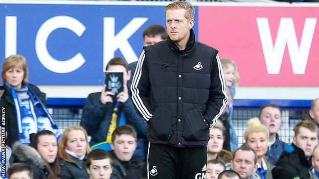 Swansea City's newly-appointed manager Garry Monk
