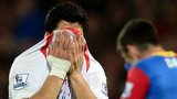 Luis Suarez cries at Crystal Palace