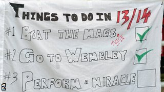 Sunderland fans make a miracle banner