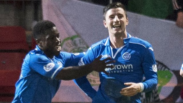 Michael O'Halloran (right) equalised for St Johnstone