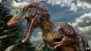 Artist's impression of Qianzhousaurus sinensis