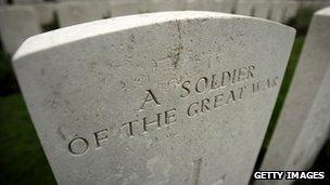 A WW1 grave