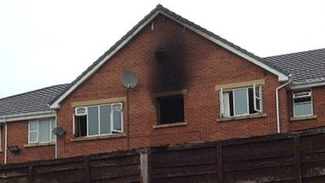 Fire damage at flat