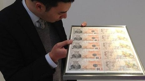 The Banksy print before it was auctioned