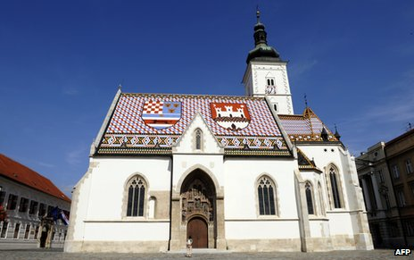St Marko church in central Zagreb