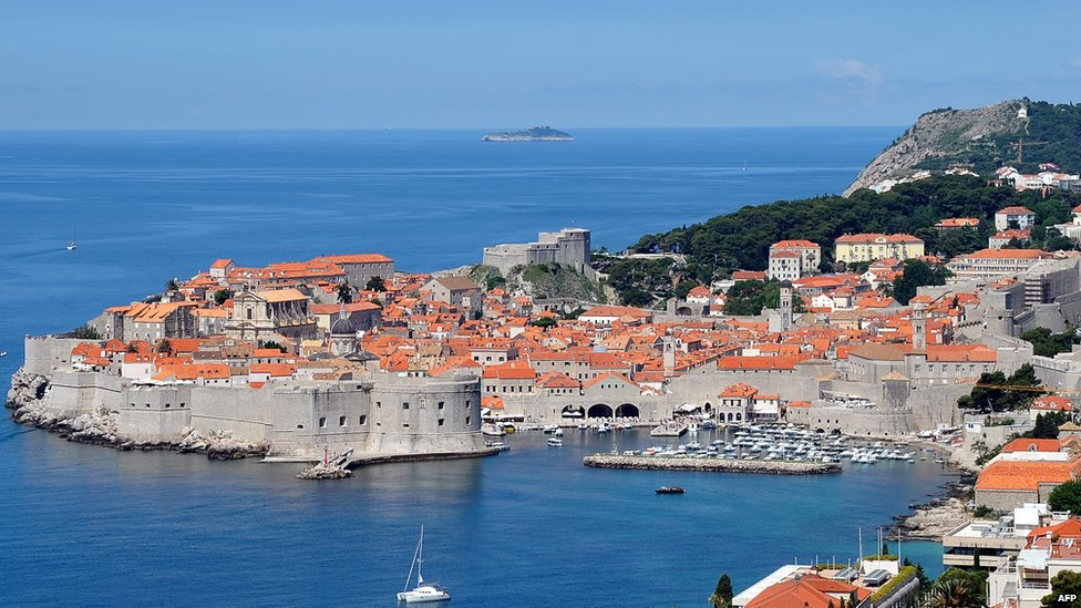 The medieval port city of Dubrovnik, in Croatia, seen in June 2013
