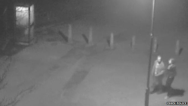 CCTV of a couple in Castle Park