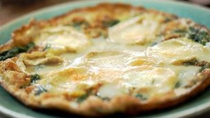 Goats' cheese omelette recipe