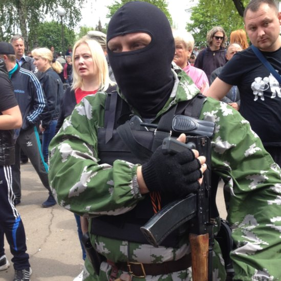 Oleg, a rebel fighter active in the town of Kramatorsk