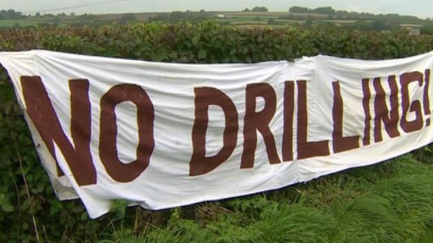 Anti-fracking banner