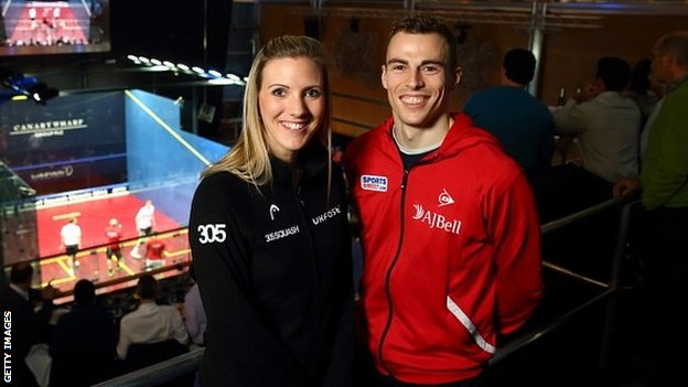 Laura Massaro and Nick Matthew