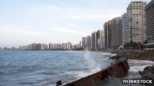 The seafront at Fortaleza, Brazil