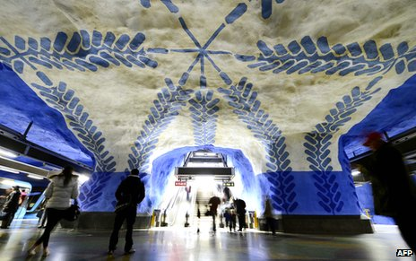 T-Centralen station on the Stockholm metro