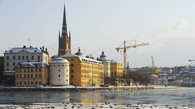 View near Riddarholmen, Stockholm