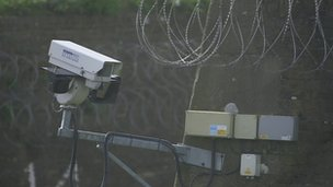 Security camera at Britain's immigration removal centres