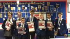 Reporters at Cams Hill School pictured with their clipboards.