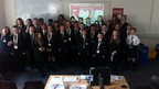 Pupils in the Billericay School BBC School Report newsroom.