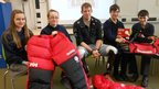 Students at Diss High School interviewed Duncan Slater, a member of the 'Walking with the Wounded' team who trekked to the South Pole alongside Prince Harry.