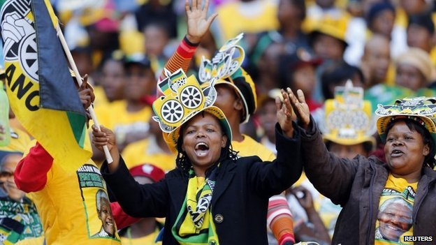 ANC supporters at a party rally in Soweto, South Africa - 4 May 2014