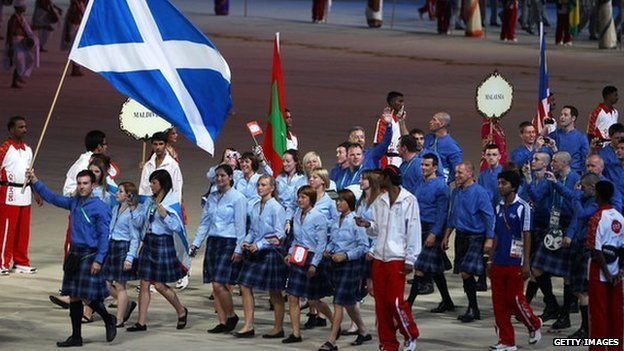 Scotland team at Commonwealth Games 2010 opening ceremony