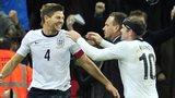England's Steven Gerrard (left) and Wayne Rooney