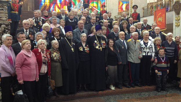Veterans gather for the Victory Day celebrations