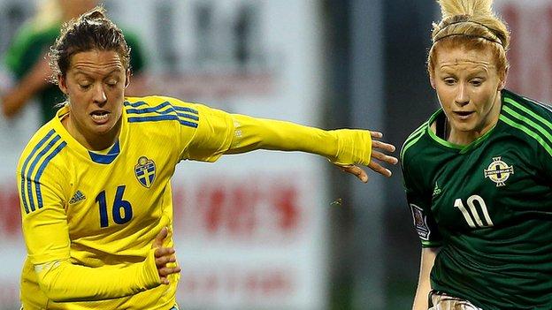 Northern Ireland lost 3-0 away to Sweden