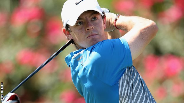 Rory McIlroy in action at the Players Championship
