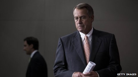House Speaker John Boehner appeared in Washington DC on 8 May 2014