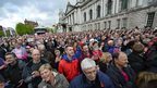 The Giro d'Italia riders received a warm welcome at the opening ceremony outside the City Hall in Belfast on Thursday evening