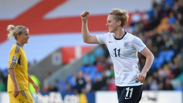 England striker Natasha Dowie