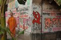 India election graffiti in Calcutta