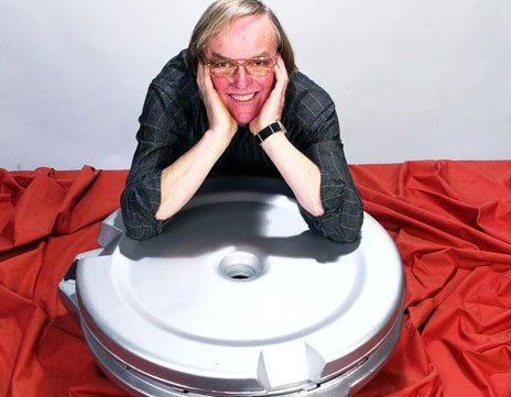 Prof Colin Pillinger with Beagle 2