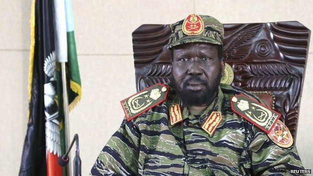 South Sudan's President Salva Kiir sits in his office in capital Juba on 16 December 2013