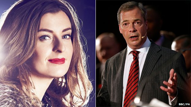 Molly Smitten-Downes and Nigel Farage