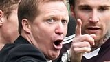 Gary Locke and some of his Hearts players