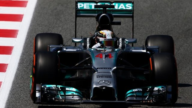 Lewis Hamilton dominates practice two
