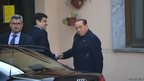 Former Italian Prime Minister Silvio Berlusconi arrived at a Catholic care home near Milan