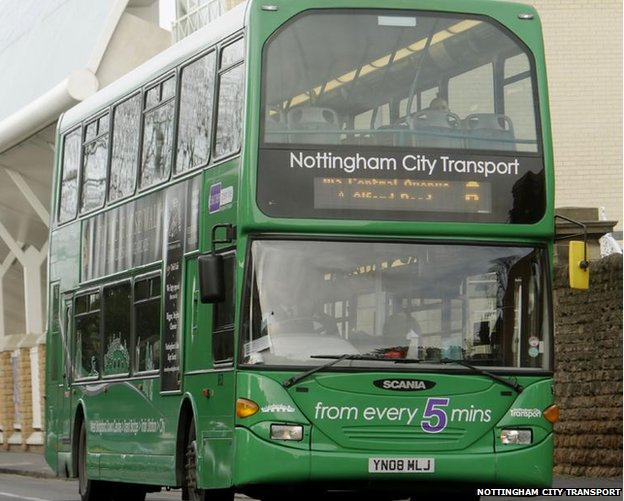 A NCT green bus in 2014