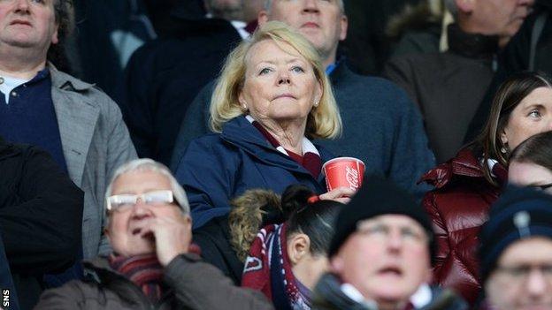 Hearts' chairwoman designate Ann Budge