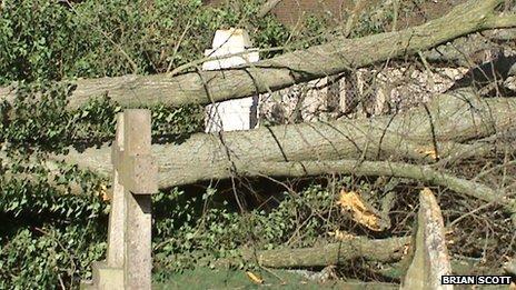 Damage to Florence Nightingale grave